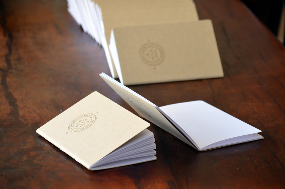 Custom Letterpressed Notebooks